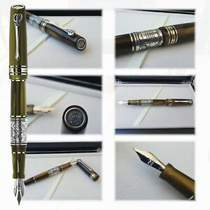 Maita Aristotele L.E. 100 pcs Fountain Pen | Italian Resin, Silver | Gold Nib |