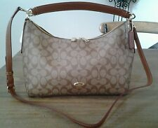 NWT Coach East/West Celeste Signature Hobo - Khaki / Saddle Crossbody Bag