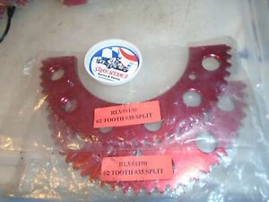 VINTAGE RACING GO KART RLV 2 PC SPROCKET 35 CHAIN 62 TOOTH CART PART