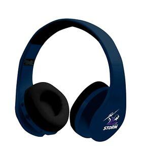 NRL MELBOURNE STORM FOLDABLE BLUETOOTH STEREO HEADPHONES