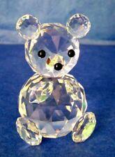 Swarovski Teddy Bear Vintage Crystal Large Figurine Signed MINT