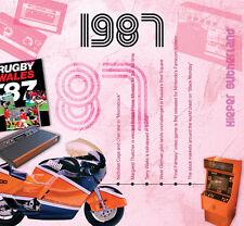 30th Birthday Gift - 1987 Classic Years Pop CD Greetings Card - CD Card Company