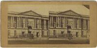 Museo Del Louvre Insegna Parigi Foto Stereo Vintage Albumina