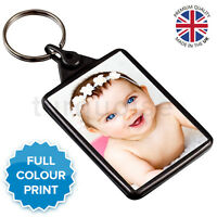 Personalised Photo Gift Acrylic Bottle Opener Keyring 45 x 35 mmPassport Size