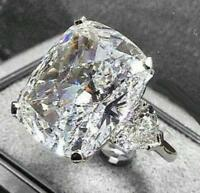 925 Silver Asscher Large White Sapphire Gemstone Wedding Jewelry Ring Wholesale!