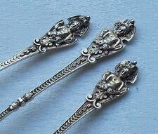 *RAR* Set 6 Mokkalöffel mit Maskaronen Putti Rokoko aus 800er Silber um 1890