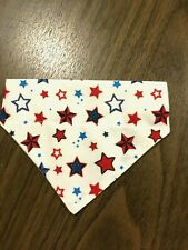 New listing Over Collar Slide On Pet Dog Cat Bandana Scarf 4th of July Stars Small
