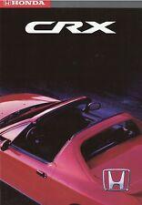 Honda CRX Cabrio Prospekt 4/93 1993 brochure Auto Autoprospekt Broschüre catalog