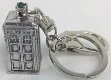 3D TARDIS Doctor Who Science Fiction TV Series - Imported Metal Keychain Keyring
