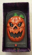 Animated Halloween Talking Doorbell Pumpkin Jack-O-Lantern  Ringer Prop NEW