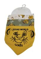 Disney Simba The Lion King Baby Bibs 3 PK Kids Feeding Muslins Primark