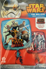 STAR WARS REBELS PARTY Foil Helium Balloon Double Sided Pack of One Free Postage