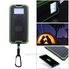20000mAh Solar Powerbank USB LED Externe Ladegerät Zusatzakku Batterie+ Haken