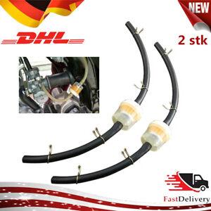 2x 6mm Benzinfilter Kraftstofffilter Schlauch +Schellen Motorrad Roller ATV Quad