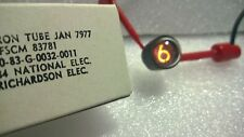 6 Nixie miniature tube JAN 7977 / 4032 B-4032 NEW, in original box, fully tested