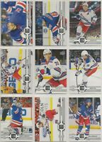 NEW YORK RANGERS ~ 2019-20 Upper Deck TEAM SET ~ 15 Hockey Cards ~ LUNDQVIST