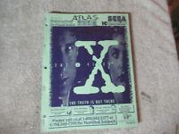 THE X FILES SEGA   pinball machine manual