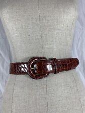 Genuine POLO Ralph Lauren American alligator tan belt size 30 ladies