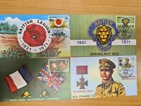 Jersey Stamps 1971 Royal British Legion  set  of 4 on postcards D17