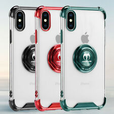 For iPhone XS Max X XR Protective Clear Back Case Ring Holder Shockproof Cover