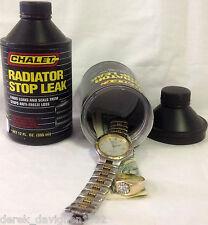 Radiator Stop Leak Safe Can Secret Disguised Storage Fake Stash