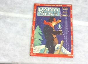 1929 January RADIO NEWS Mechanical Scanning COLOR Television Illustrated Diagram
