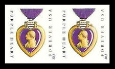 US 4704a Purple Heart Medal imperf NDC horz pair MNH 2012