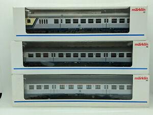 Märklin H0 4255/56/57 Nahverkehrswagen-Set 3-teilig (Silberlinge) DB OVP