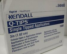 "1000 KENDALL 3"" Q-TIPS SINGLE TIPPED APPLICATORS SWABS - 10 PKS/100 EA - 540400"