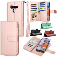 For LG Stylo 6/Stylo 5/Stylo 4 Case Leather Wallet Flip Card Holder Stand Cover