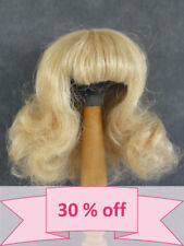 "30% Discount Human Hair DOLL WIG size 8.85"" (22.5 cm) Fluffy blond hair -France"