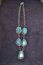 Beautiful Handmade Sterling Silver and Blue Mirage Necklace