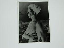 Foto Glas Kunst Akt Erotik nackt nud um 1900 men mann profil K28,1,17
