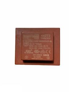 MYRRA  44272  Transformateur d'isolation, EI 48, 10 VA, 2 x 9V 556 mA 1 x 230V