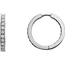 Diamond Inside/Outside Hoop Earrings In Platinum (1.00 ct. tw.)