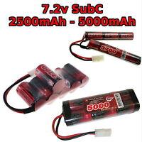 7.2V Batería 2200-5000mAh Subc Sc Premium Carreras Rc Nimh Paquete + a Medida