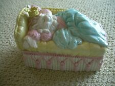Vintage Lefton Catarina Of Catnap Trinket Or Jewelry Box - 1990 Nice Shape