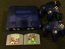 Nintendo 64 N64 Grape Purple Console + 2 Games | PAL Very Good Condition