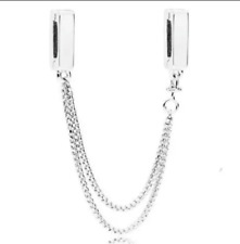 REFLEXIONS FLOATING SAFETY CHAIN CLIP SILVER STERLING 925 MOTHER DAY GIFT DANGLE