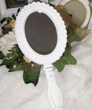 Clayre&Eef Hand Mirror Mirror Cosmetic Mirror White Shabby Vintage Nostalgia