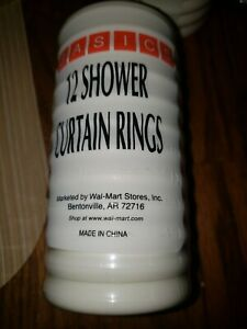 basics 12 shower curtian rings