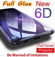 Full Glue Adhesive 6D Tempered Glass For Samsung Galaxy S9 / S9 Plus / Note 8/9