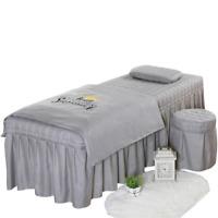 4pcs Beauty Salon Bedding Set Bed Sheets Bedspread Massage Spa Duvet Cover Sets