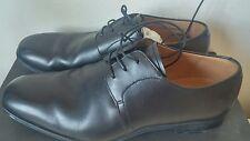 BALLY Calf Leather Plain Black Derby Shoes Mens Formal UK 7.5 Designer