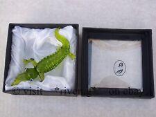CROCODILE FIGURINE@Unique GREEN Glass Ornament@Collectable Gift@FEARED REPTILE
