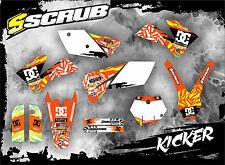 SCRUB KTM EXC 450 - 525  2003 '03 Grafik Sticker Dekor-Set