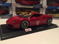 Ferrari 488 GTB - Red -  Die Cast Maisto Special Edition 1:18 scale