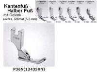 Kantenfuß Halber Fuß, Sohle LINKS !! P36 N mit SCHMALER Sohle: 5 mm !!  #sp