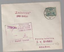 1929 Poznan to Gdansk Poland  First Flight Cover FFC