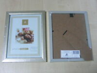 """6 x 8 """" SILVER WOOD WOODEN PICTURE PHOTO FRAME NEW"""